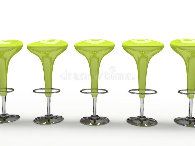 för kafeteriastol för bakgrund svart isolerat stilfullt green stock illustrationer