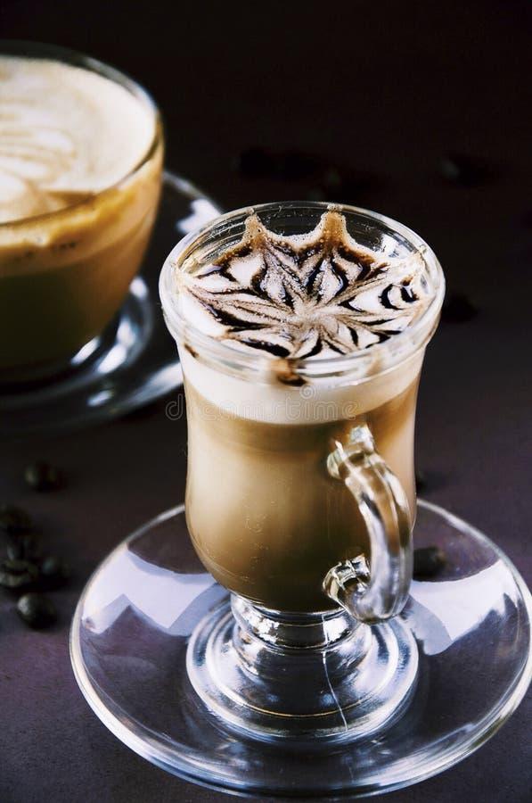 För kaffe cappuccinogastronomi fortfarande arkivbild