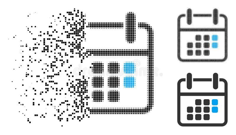 För kalenderhelg för skadat PIXEL rastrerad symbol royaltyfri illustrationer