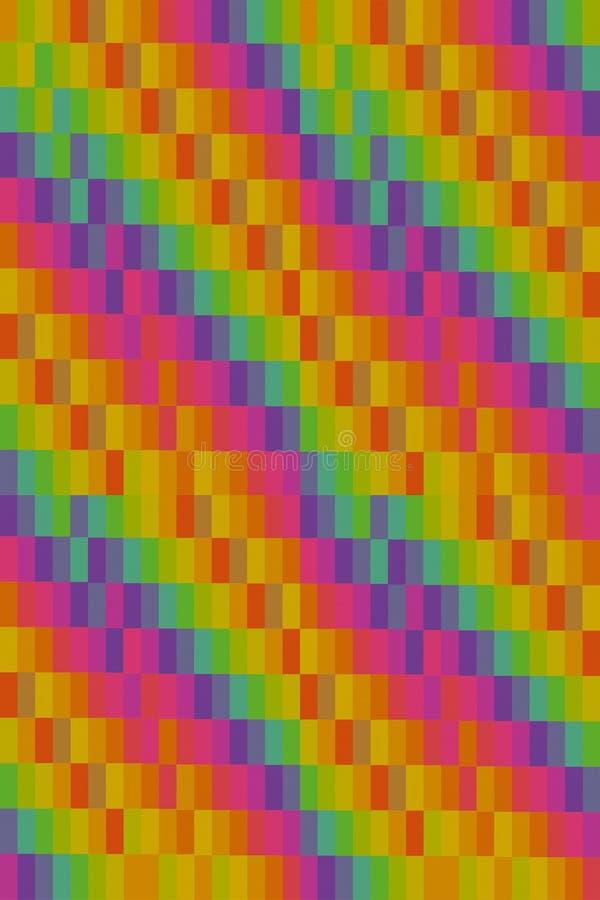 F?r kanfastextur f?r lutning grund f?r modell f?r vertikala rektanglar f?r papp ribbade purpurf?rgad karmosinr?d gr?n gul gr?n f? royaltyfri illustrationer