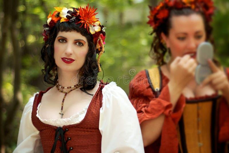 för kansas för bordellstadsfestiva wenches renässans royaltyfri fotografi