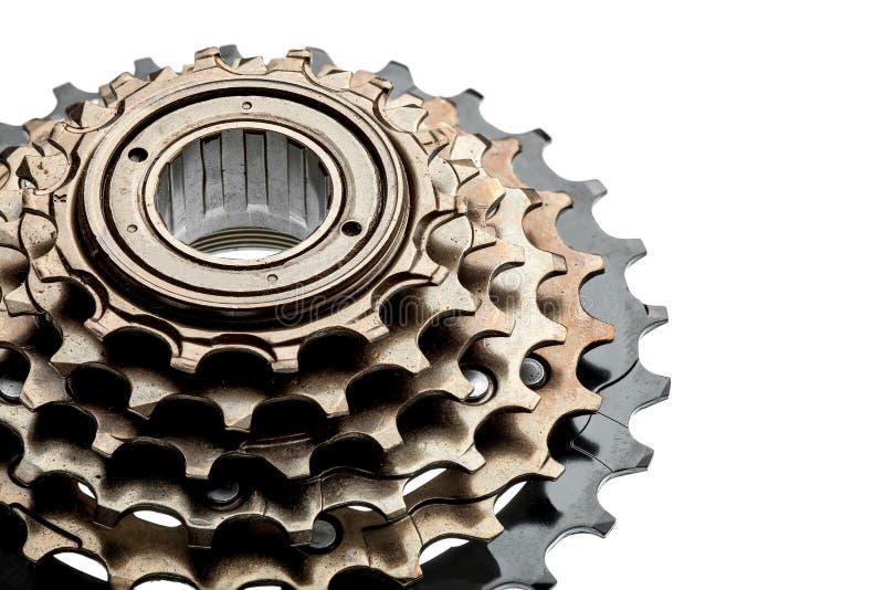 För kassettcykel för cykel bakre reservdelar royaltyfri bild