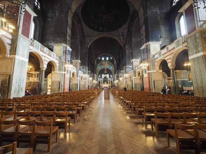 för katolskt roman westminster england london för domkyrka ställe dyrkan royaltyfri fotografi