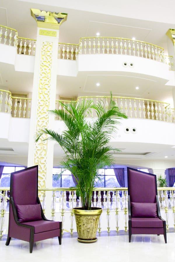 för kemerlobby för hotell modern inre lyx royaltyfria foton