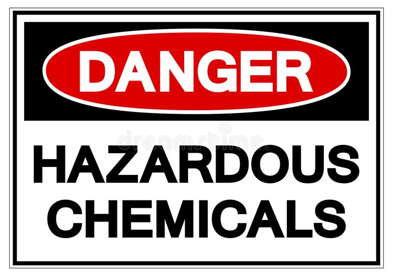 För kemikaliesymbol för fara farligt tecken, vektorillustration, isolat på den vita bakgrundsetiketten EPS10 royaltyfri illustrationer