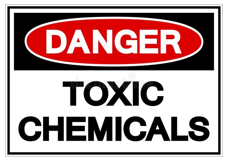 För kemikaliesymbol för fara giftligt tecken, vektorillustration, isolat på den vita bakgrundsetiketten EPS10 stock illustrationer
