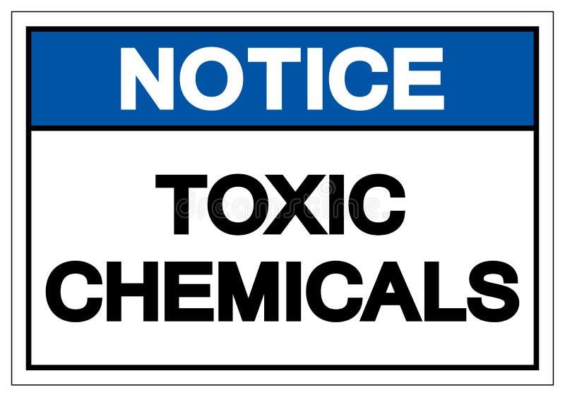 För kemikaliesymbol för meddelande giftligt tecken, vektorillustration, isolat på den vita bakgrundsetiketten EPS10 royaltyfri illustrationer