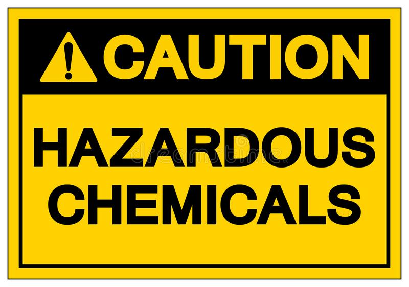 F?r kemikaliesymbol f?r varning farligt tecken, vektorillustration, isolat p? den vita bakgrundsetiketten EPS10 vektor illustrationer