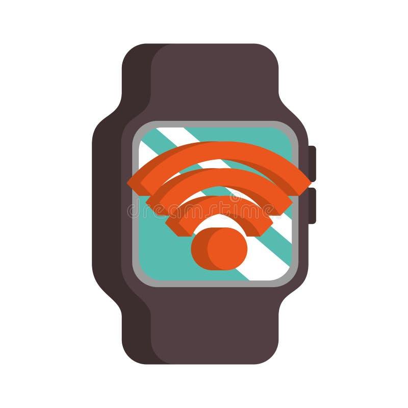 För klockanfc för Wearable teknologi smart betalning vektor illustrationer