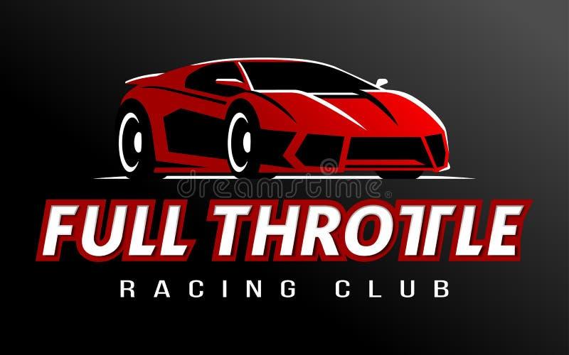 För klubbalogo för tävlings- bil vektor vektor illustrationer