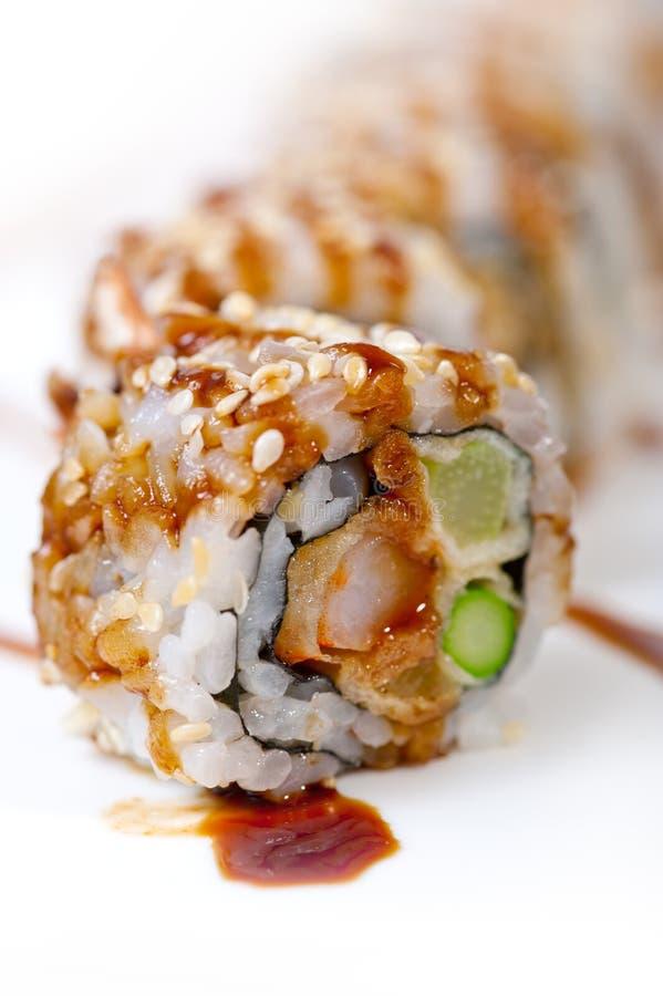 För kombinationssortiment för ny sushi primat val royaltyfria bilder