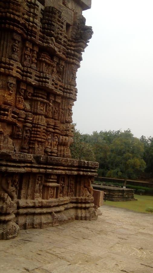 för konarkplan för general india sikt för tempel för sun för sida arkivfoton