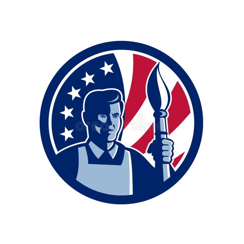 För konstnärUSA för amerikan fin symbol flagga stock illustrationer