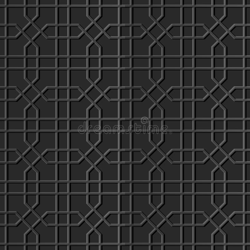 för konstoktogon för papper 3D linje för geometri för kors royaltyfri illustrationer