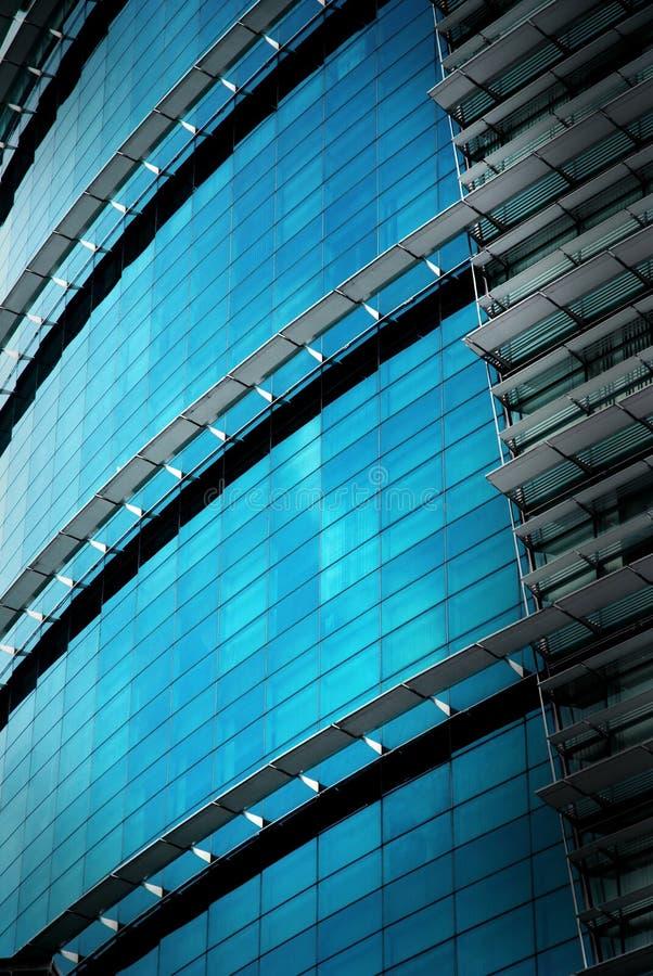 för kontorsreflexion för byggnad glass vägg royaltyfri fotografi