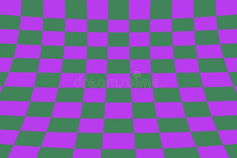 För kontrollörbräde för skevt perspektiv som grönt färgat raster för effekt är purpurfärgat och stock illustrationer