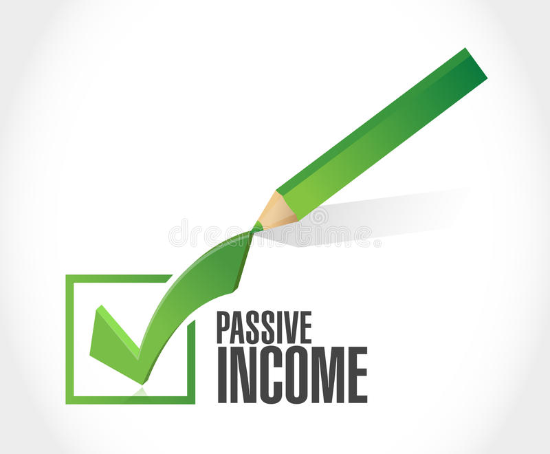 för kontrollfläck för passiv inkomst begrepp stock illustrationer