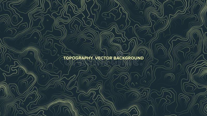 För konturöversikt för vektor psykedelisk abstrakt bakgrund för Topographic lättnad royaltyfri illustrationer