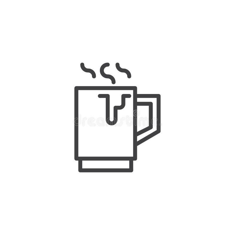 För koppöversikt för varm choklad symbol vektor illustrationer