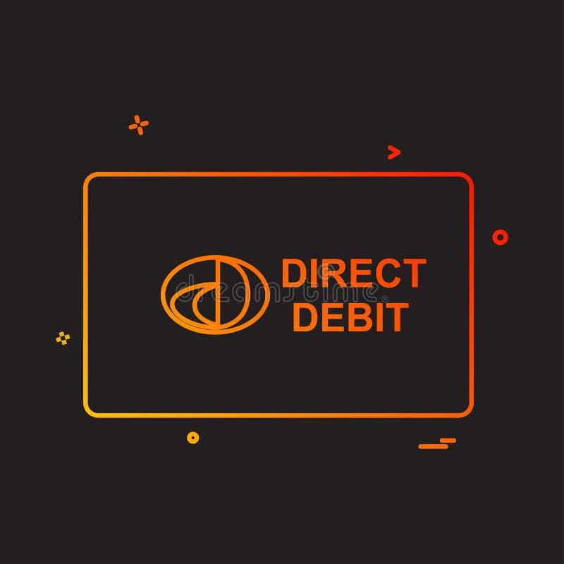 För kortdesign för direkt debitering vektor vektor illustrationer