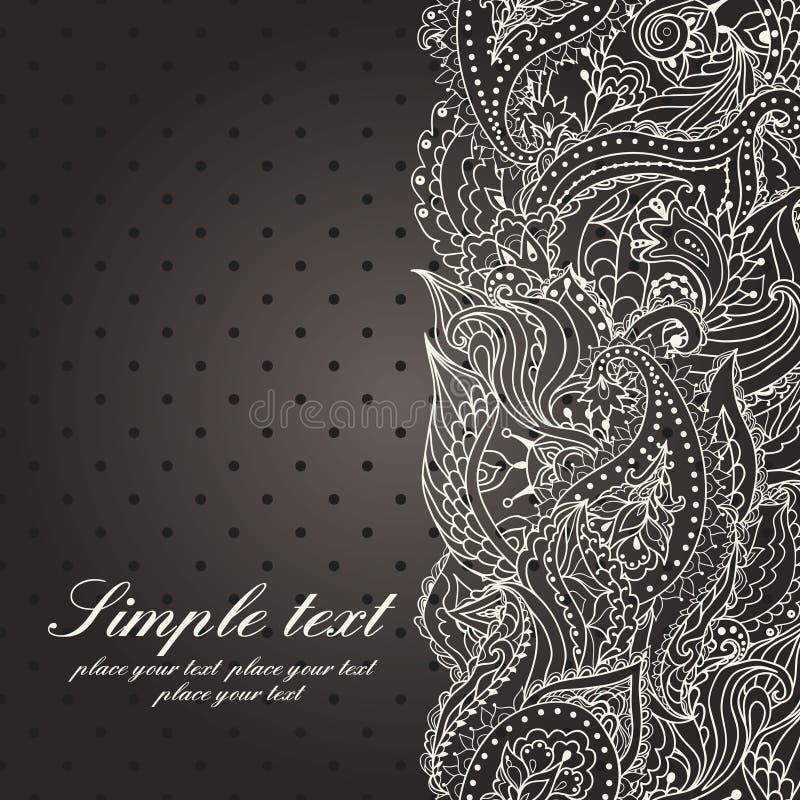 för kortdesign för bakgrund white för affisch för ogange för svart fractal för blomma god vektor illustrationer