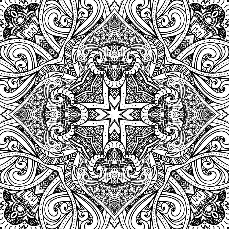 för kortdesign för bakgrund white för affisch för ogange för svart fractal för blomma god Abstrakt modell, vektor illustrationer