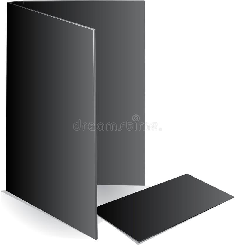 för kortfall för bakgrund svart visit för förlaga vektor illustrationer