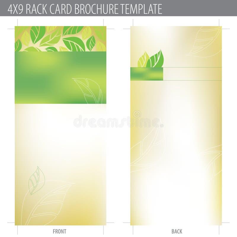för kortkugge för broschyr 4x9 mall vektor illustrationer