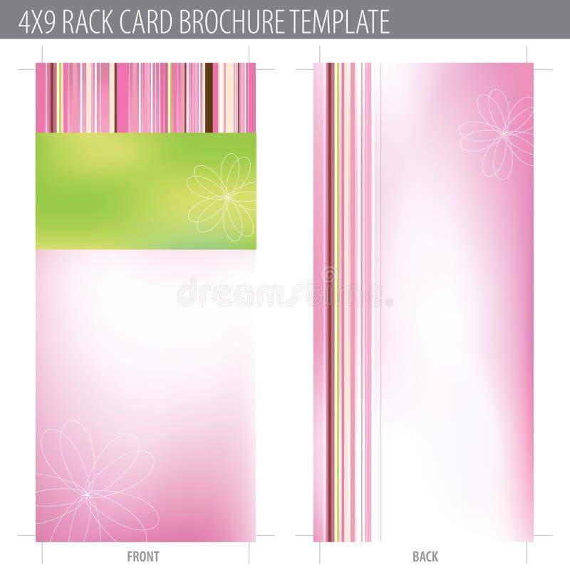 för kortkugge för broschyr 4x9 mall royaltyfri illustrationer