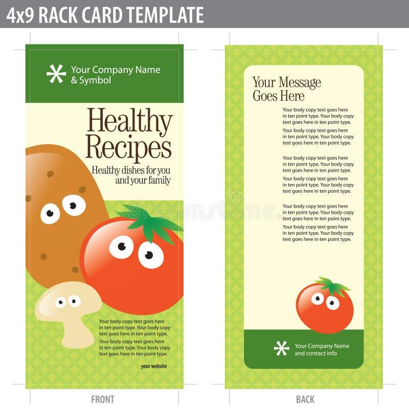 för kortkugge för broschyr 4x9 mall stock illustrationer