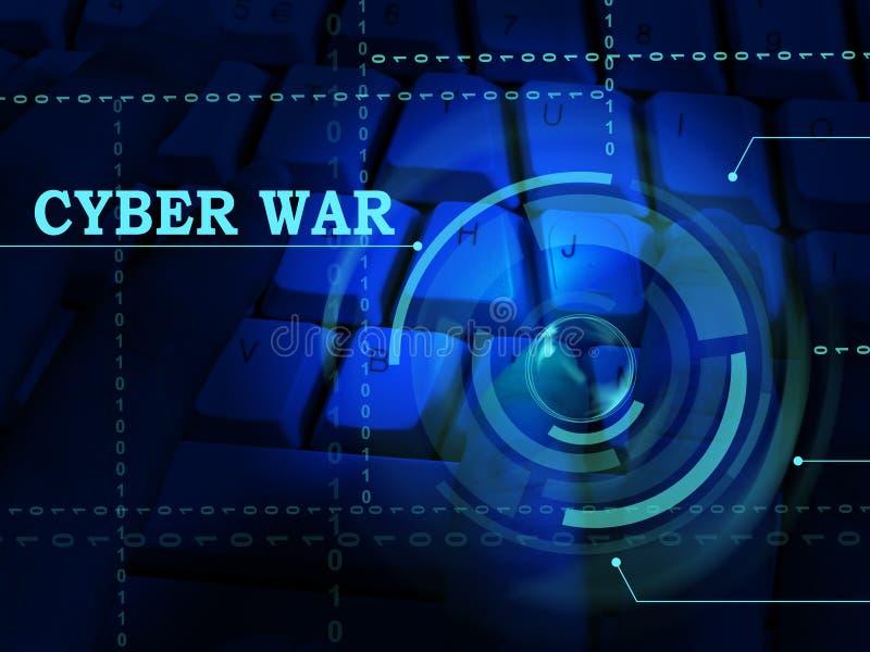 För krigdataintrång för Cyberwar faktisk illustration för invasion 3d stock illustrationer