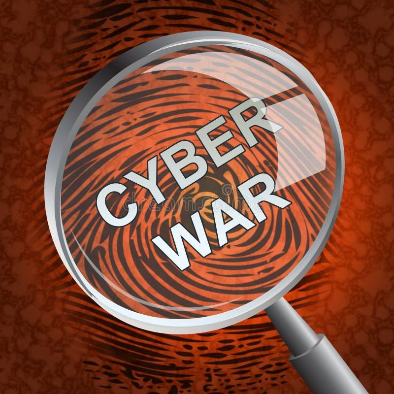 För krigdataintrång för Cyberwar faktisk tolkning för invasion 3d royaltyfri illustrationer