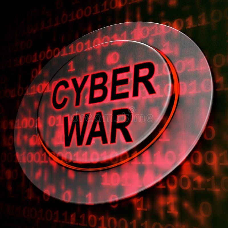 För krigdataintrång för Cyberwar faktisk tolkning för invasion 3d vektor illustrationer