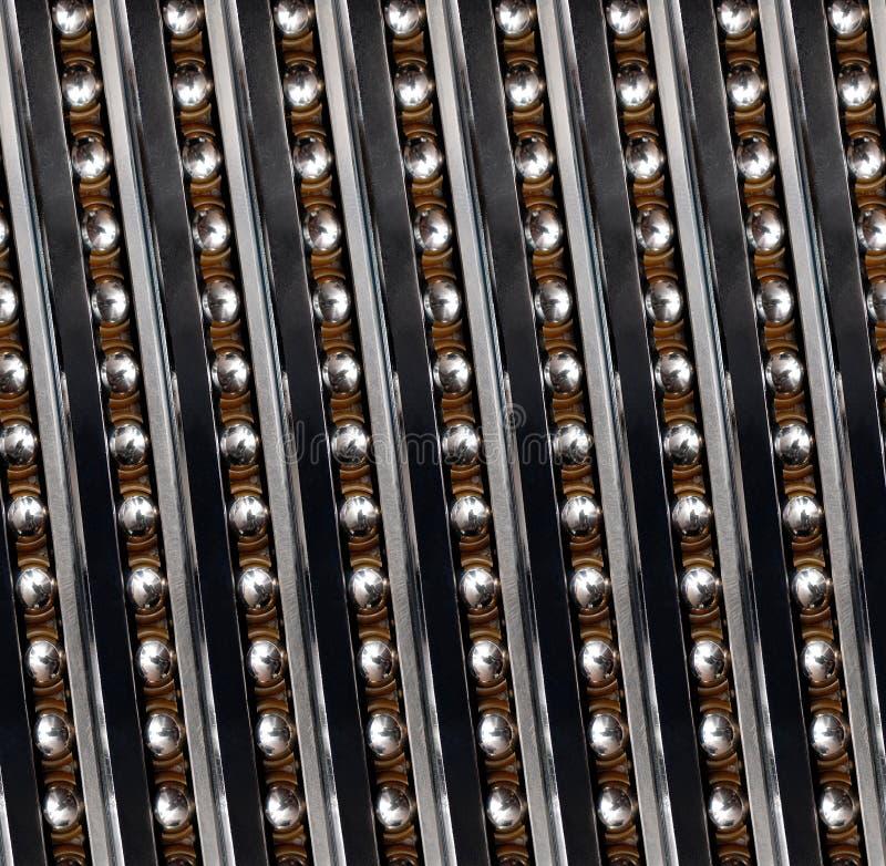 För kullagerabstrakt begrepp för sömlös modell linjär industriell fractal Fodrar vertikal diagonal vänstersida för kullager linjä royaltyfria bilder