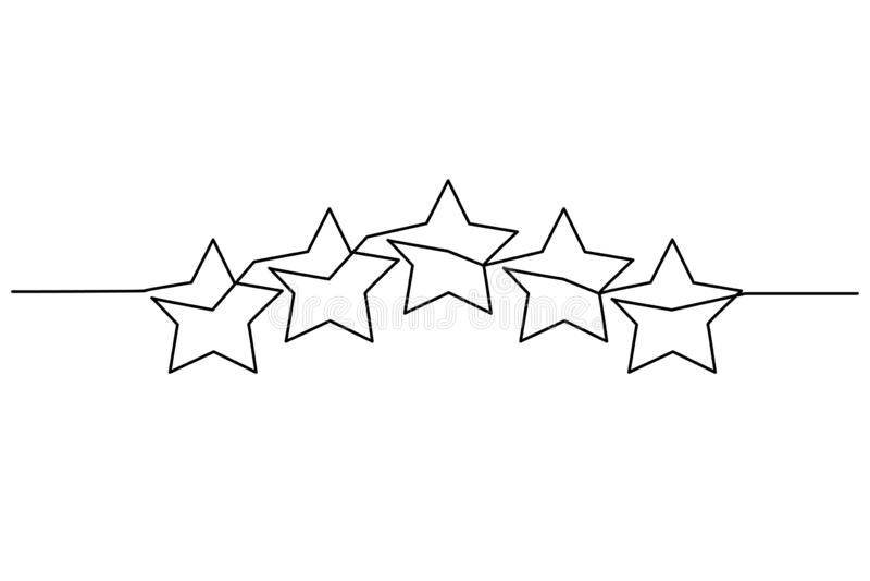 För kundprodukt för fem stjärnor symbol för granskning för värdering vektor illustrationer