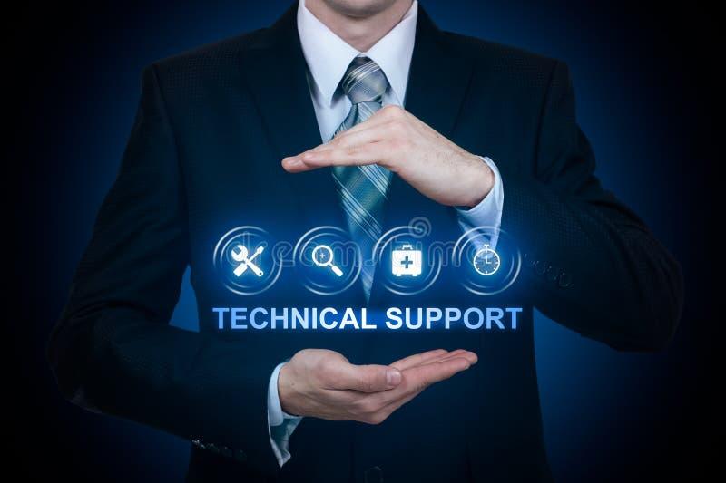 För kundtjänstaffär för teknisk service begrepp för internet för teknologi royaltyfria bilder