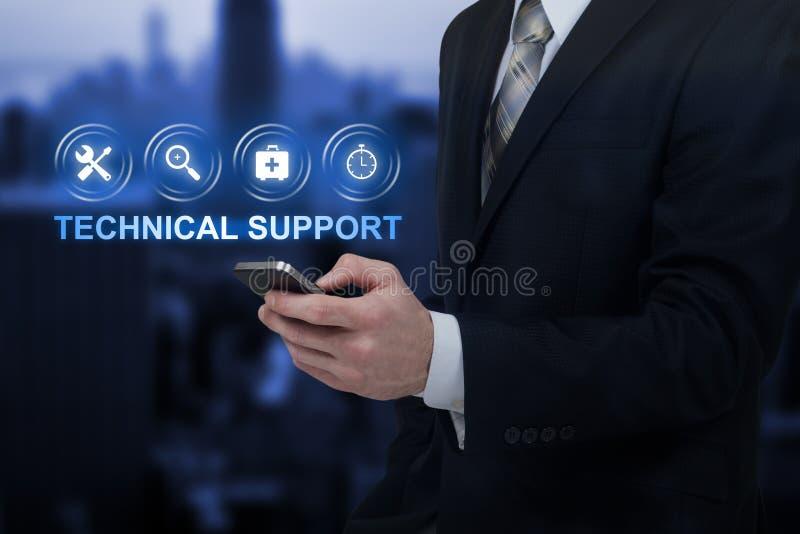 För kundtjänstaffär för teknisk service begrepp för internet för teknologi arkivbilder