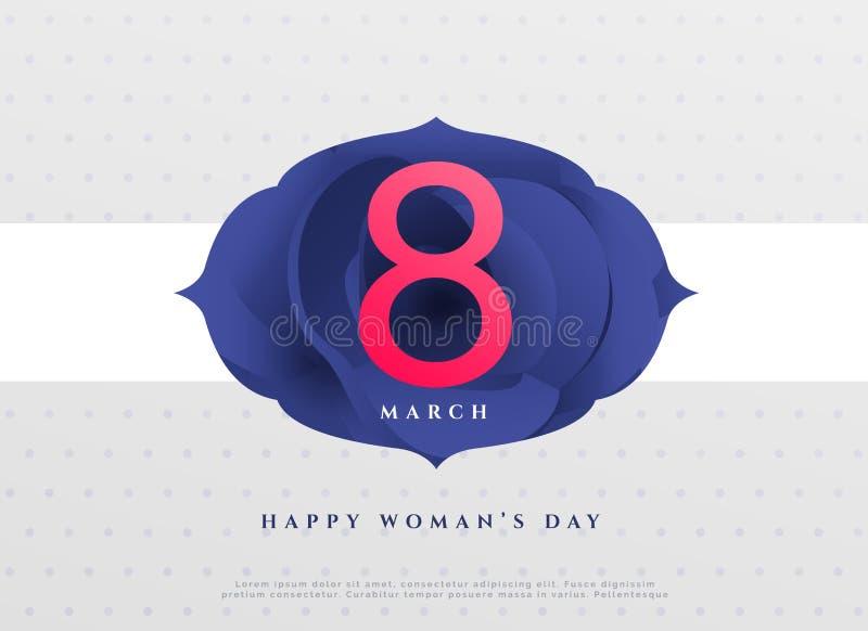 För kvinna` s för elegant 8th marsch lycklig bakgrund för dag vektor illustrationer
