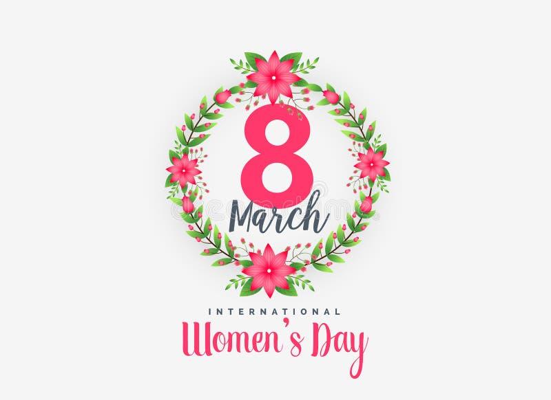 För kvinna` s för gullig 8th marsch lycklig bakgrund för dag royaltyfri illustrationer