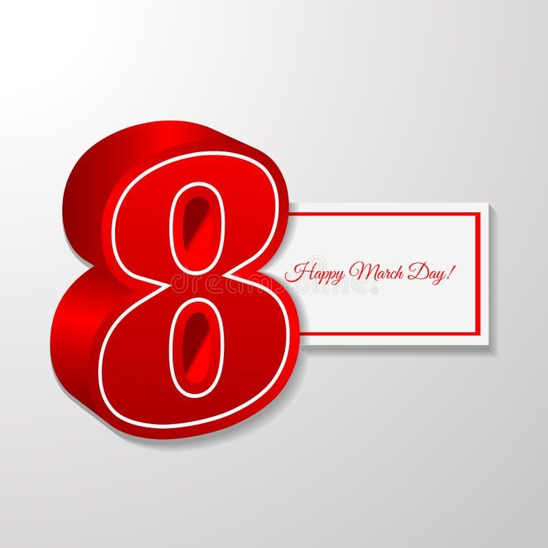 8 för kvinnadag för marsch illustration eps 10 för baner vektor illustrationer