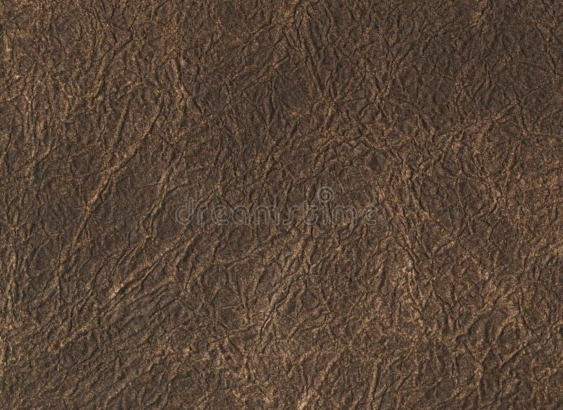 För lädertextur för mörk brunt bakgrund Slut upp av en forntida lädertextur modell för bakgrund för lädertexturbrunt arkivfoton