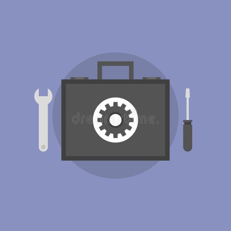 För lägenhetsymbol för teknisk service illustration vektor illustrationer