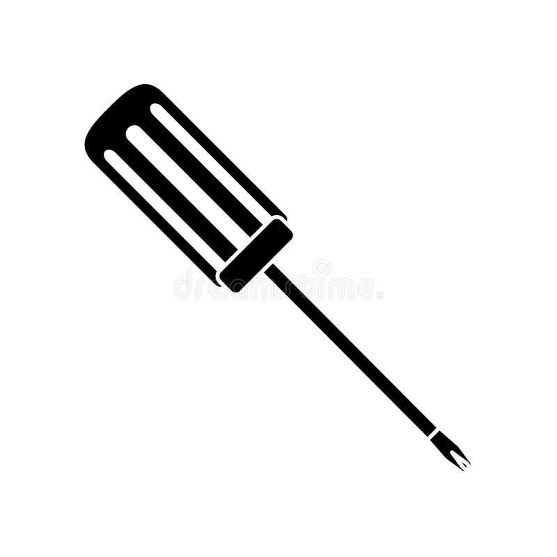 för lösningsskruvmejsel för teknisk service symbol royaltyfri illustrationer