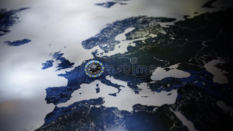 För lagavskildhet för GDPR Europa skydd för data DSGVO arkivfoto
