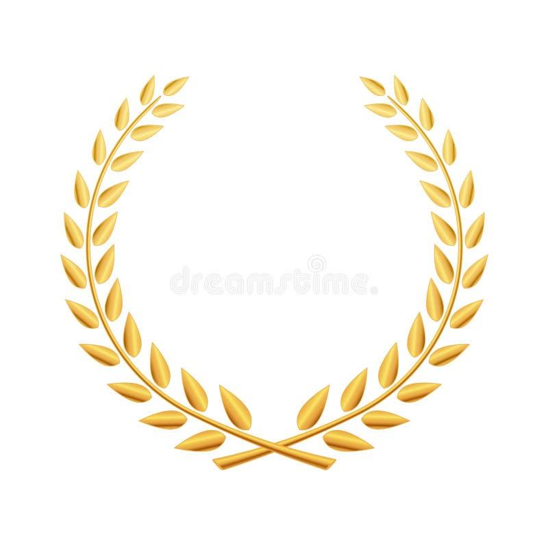 För lagerkrans för vektor guld- illustration för symbol vektor illustrationer