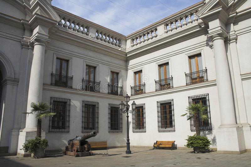 för lamoneda för de trädgårds- inre palacio royaltyfri fotografi