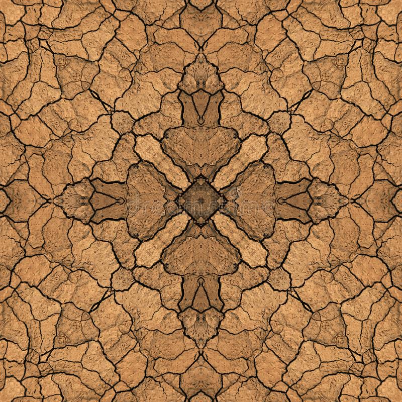 För landjord för sömlös symmetrisk modell abstrakt textur royaltyfri illustrationer