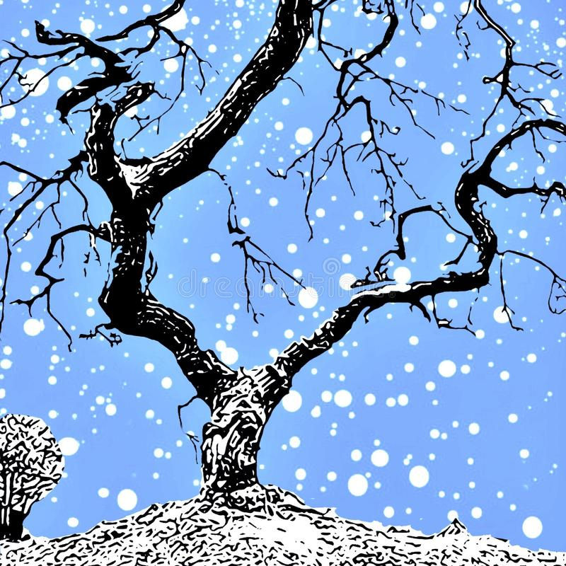 för landrests för dag frysa vinter för tree för snow royaltyfri fotografi