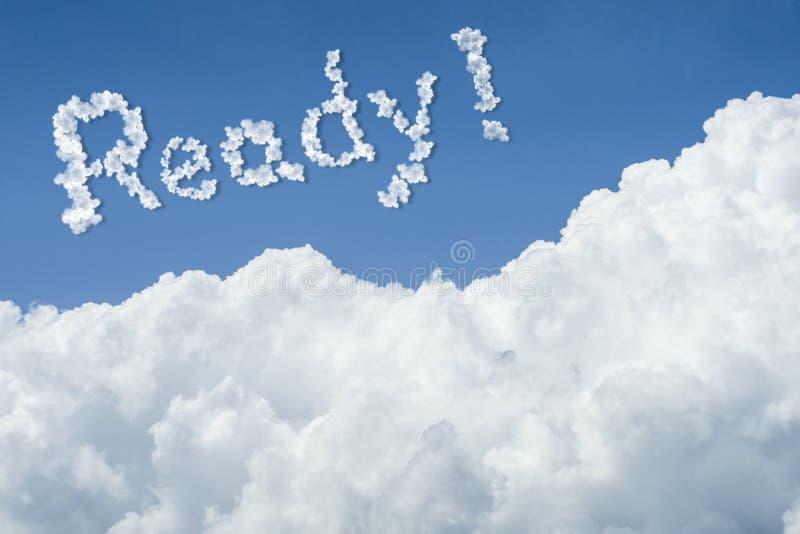 för landskapsky för härlig blå oklarhet fridsam tyst white solig dag cloudscape slut upp molnet Klar text Få det klara begreppet  stock illustrationer