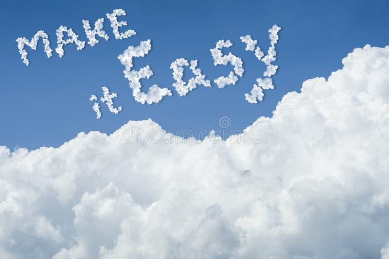 för landskapsky för härlig blå oklarhet fridsam tyst white solig dag cloudscape slut upp molnet text gör det lätt gör det det lät vektor illustrationer
